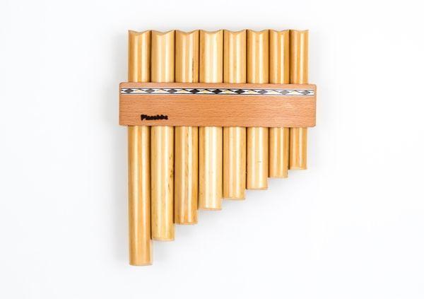 Plaschke R08 C Panflöte C-Dur / 8 Rohre Schilf, elektronisch gestimmt