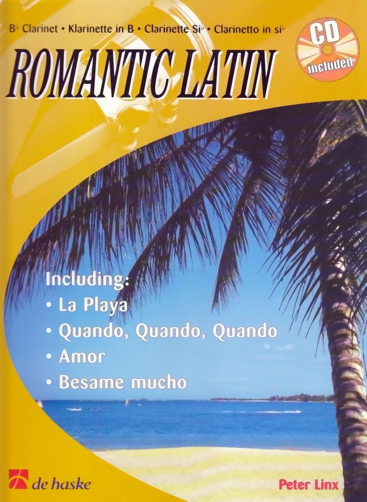 Noten ROMANTIC LATIN für Klarinette incl. passender CD de Haske DHI0515