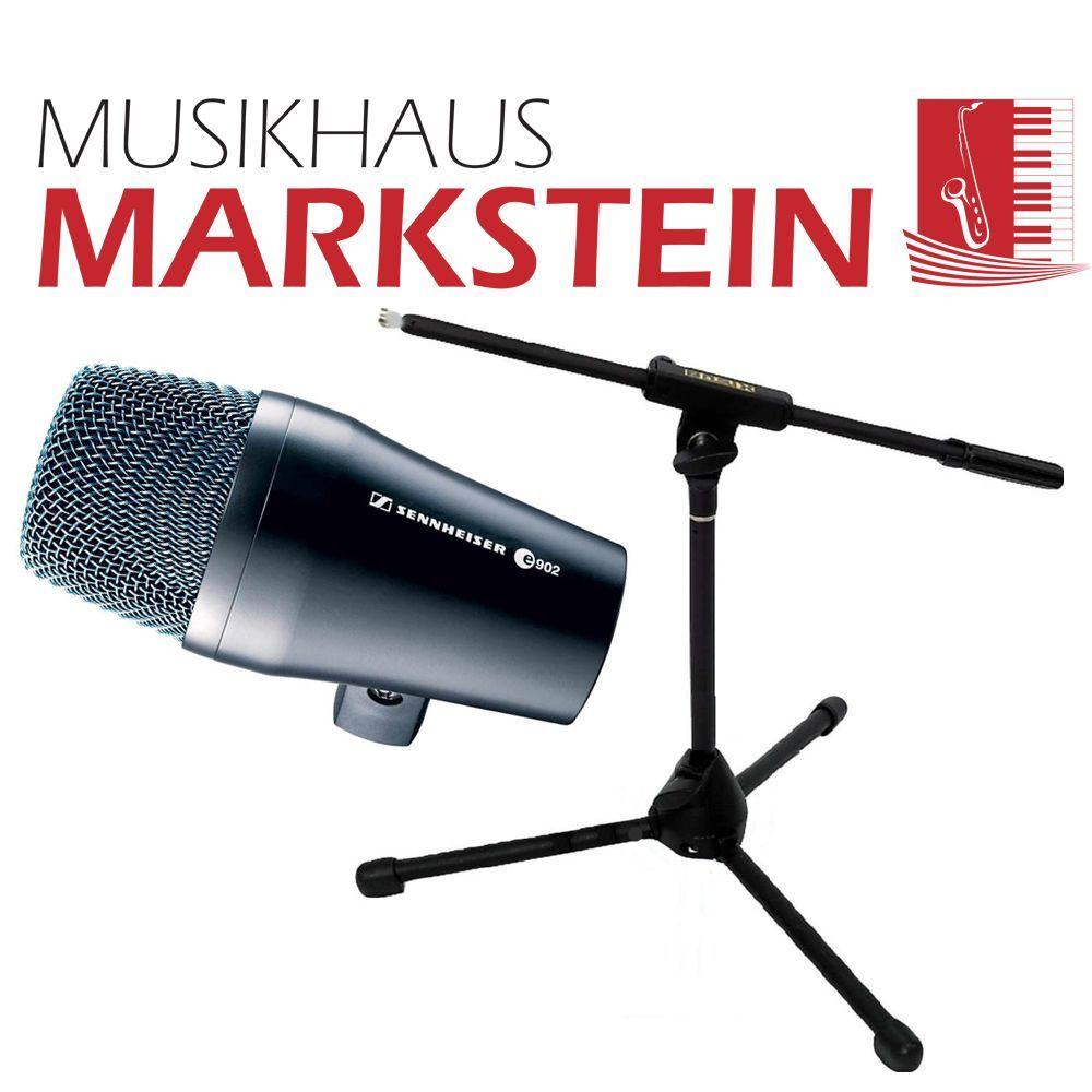 Sennheiser e 902  inkl. Bassdrum Mikrofonstativ Mikrofon + Stativ SET