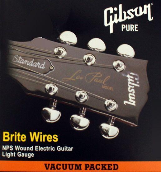 Gibson E-Gitarren Saiten Brite Wires Electric, .011-.050