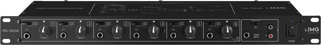 "IMG Stage Line PPA-100/SW 6-Kanal Kopfhörerverstärker 19"" 1 HE"