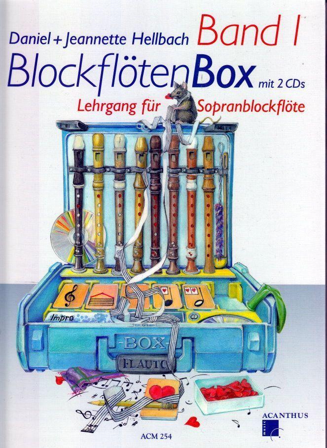 Noten BLOCKFLÖTENBOX 1 acanthus ACM 254 incl. 2 CDs Daniel Jeannette Hellbach