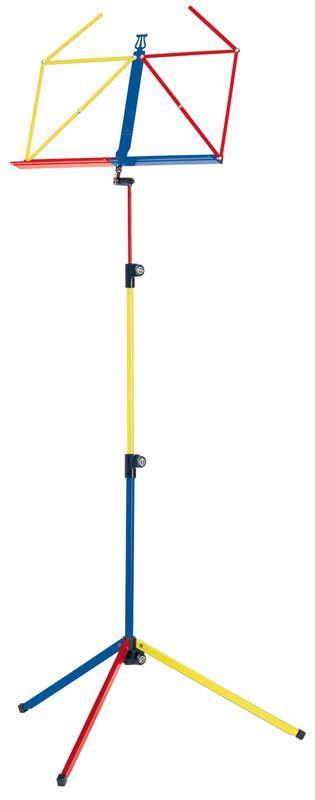"""K&M 10010 Notenpult """"Rainbow"""" bunt (rot, gelb, blau) 625mm - 1240mm Höhe 100/1"""