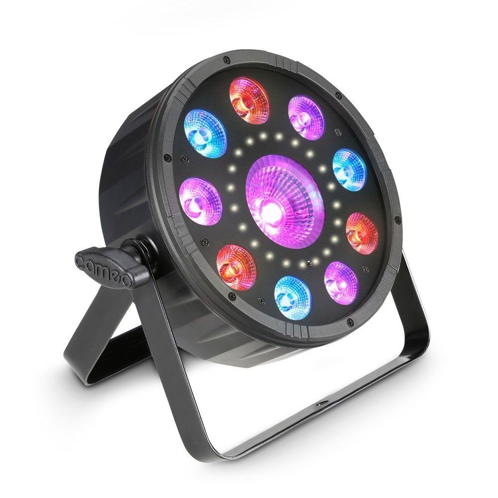 Cameo FLAT MOON  Flacher 3-in-1 PAR-Scheinwerfer mit RGB+UV LEDs und Stroboskop