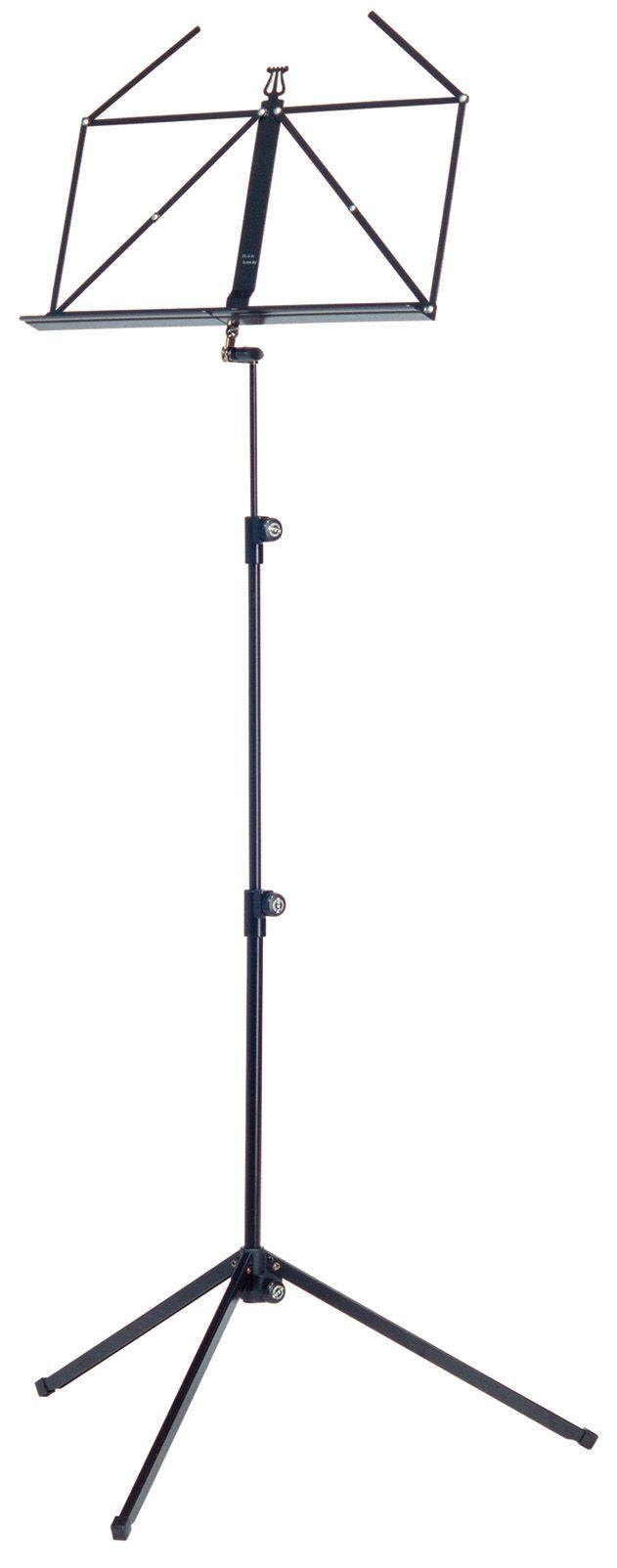 K&M 10010 Notenpult schwarz , Höhe 625-1240 mm, zusammengelegt 460mm 100/1