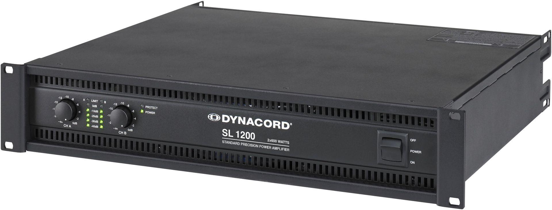 Dynacord SL 1200 Endstufe 2x600 Watt 2HE Power Amp 1200 W