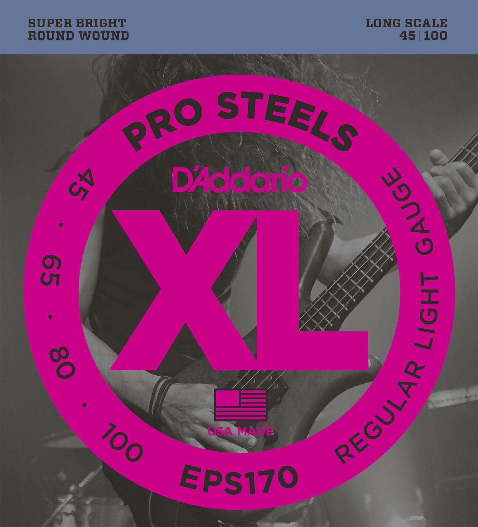 D'Addario EPS170, Prosteels 4 String Bass Strings 045-100