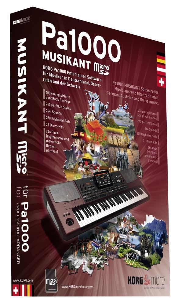 Korg PA-1000 Musikant-Erweiterung incl. 240 PA1000-Styles, 400 Songbook-Einträge