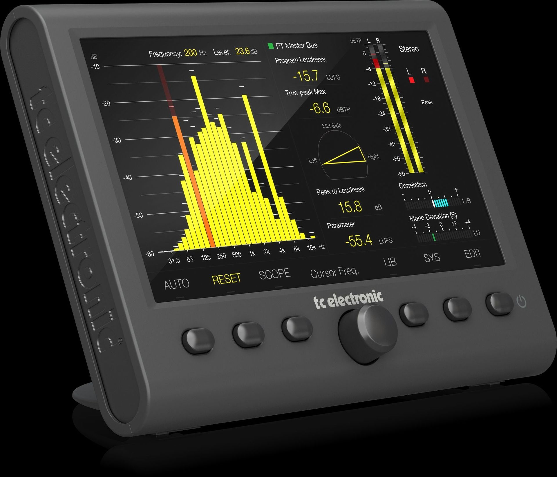 tc electronic CLARITY M Stereo Desktop Audio Meter für Mastering und Mixing