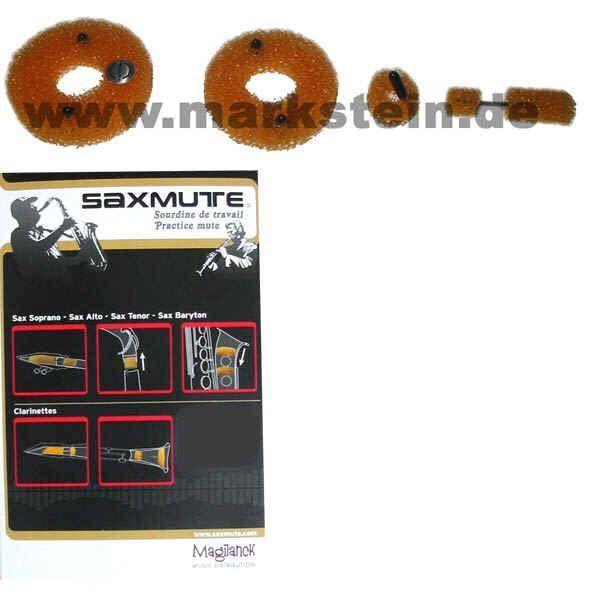 Dämpfer für Altsaxophon SAXMUTE Alt-Saxophon 3-teilig