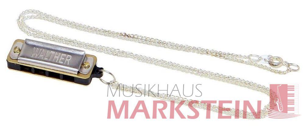 Walther Mundharmonika Miniatur C-Dur , 8-stimmig mit Kette