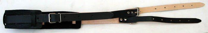 Tenorhorn-Trageriemen 20 mm, Leder mit 2x Schlaufe