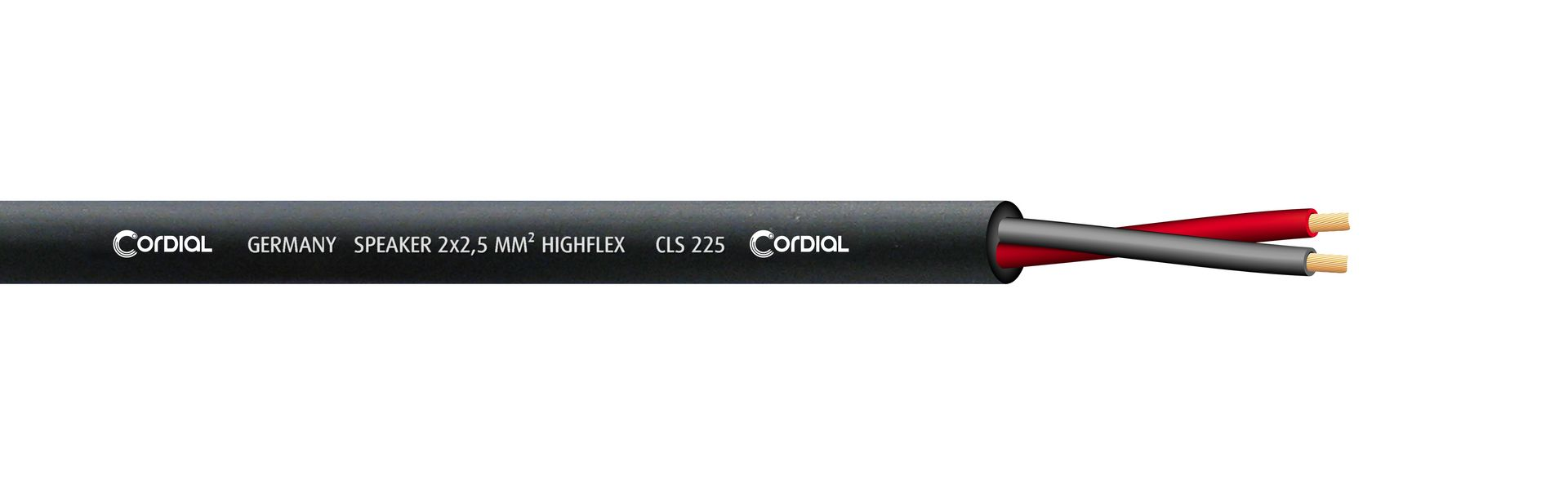 Cordial CLS 225 BK Lautsprecherkabel schwarz 2 x 2,50 qmm, Meterware Highflex