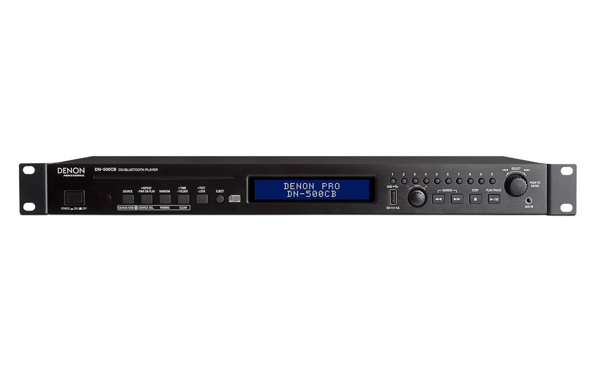 "Denon DN-500 CB 19"" 1 HE Mediaplayer für CD, USB, Bluetooth Medien"
