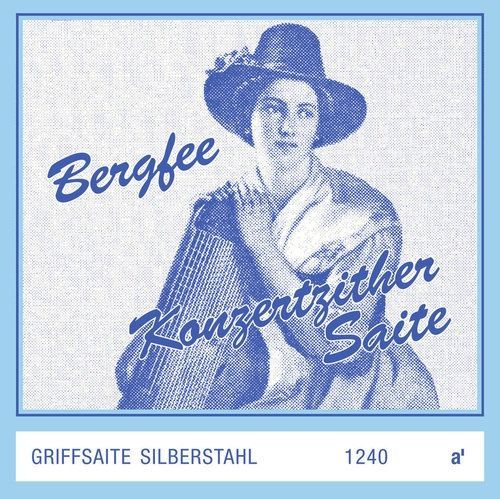 Optima Zither-Saiten Bergfee Griff A   661504, 1240-H , Harfenzither