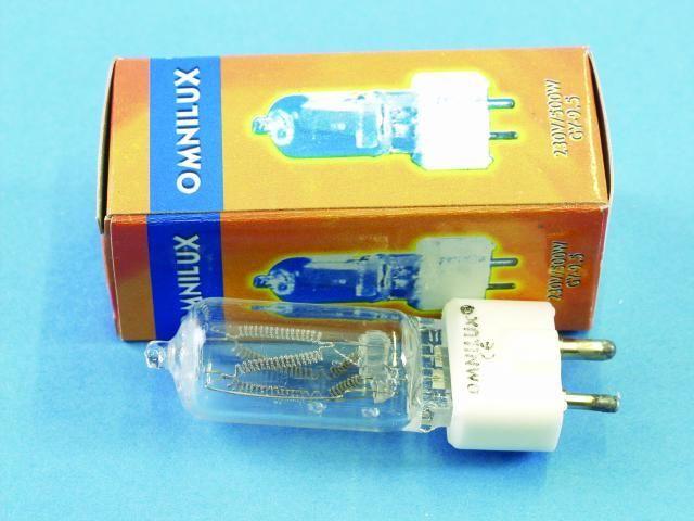 OMNILUX A1 230V/500W Glühbirne für Lampensockel GY-9,5