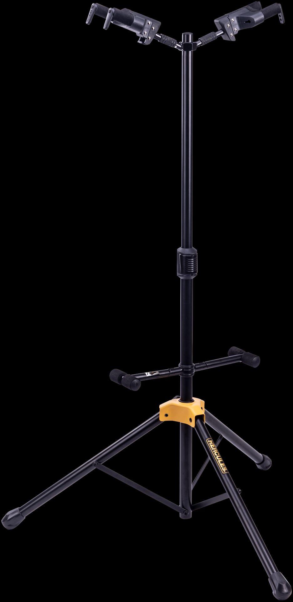 Hercules GS422B+ Gitarrenständer für 2 Gitarren, Stativ mit Sicherheitssystem