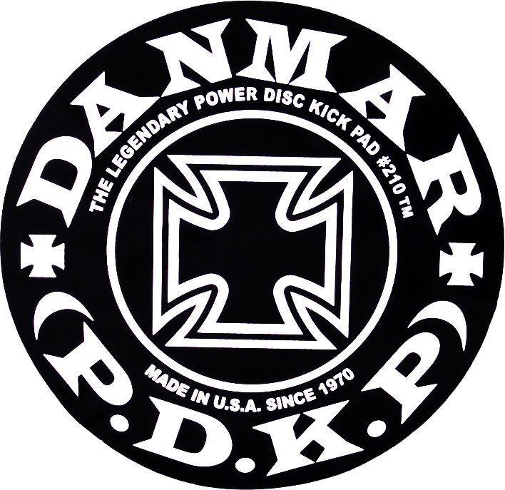 "DANMAR 210IC Power Disk Kick Pad ""Iron Cross"" single pedal"