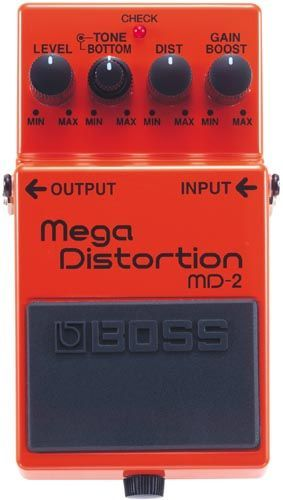 Boss MD-2 Mega Distortion, Effektgerät für E-Gitarre