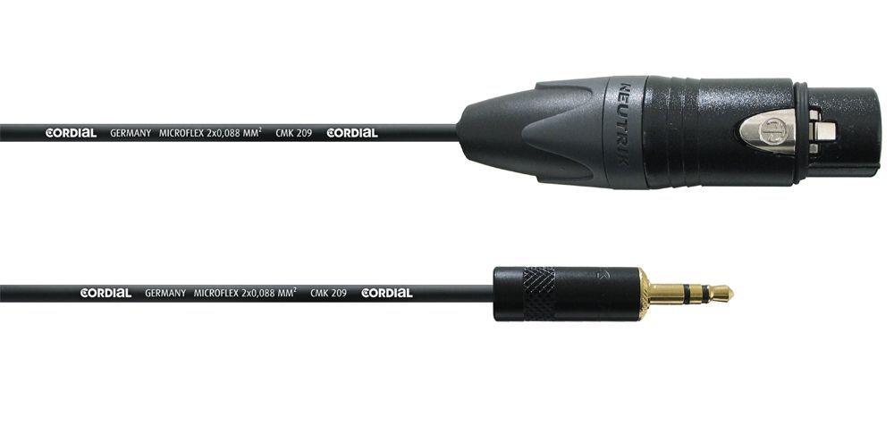Cordial CPM 1,5 FW-BAL Audiokabel, 1 XLR female  3,5mm Stereoklinkenstecker