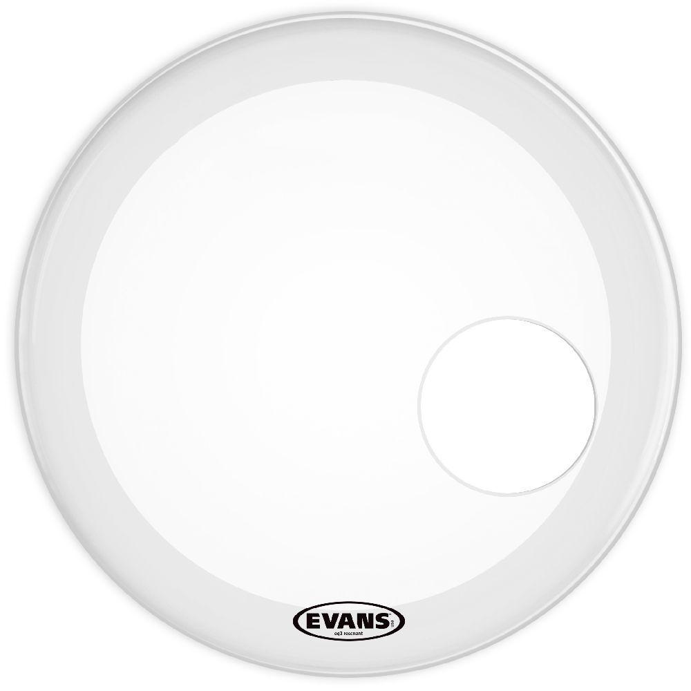 "Evans Reso EQ3  20"" Coated White Bassdrum Resonanzfell BD20RGCW"