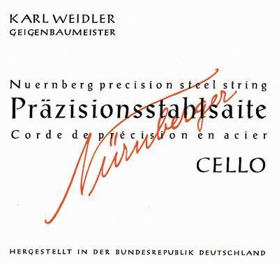Karl Weidler Cello 1/2 A Saite Stahl mittel