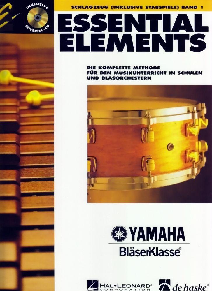 Noten ESSENTIAL ELEMENTS 1 Schlagzeug incl. CD Yamaha Bläserklasse HASKE -DHE057