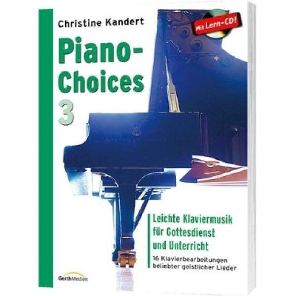 Noten Piano Choices 3 Christine Kandert incl. CD Gerth 857473