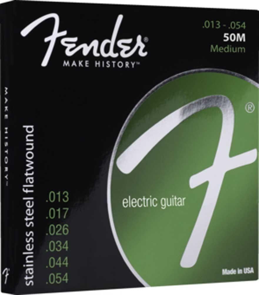 Fender 50 M Stainless Steel Flatwound .013-.054  Restpostenabverkauf !!