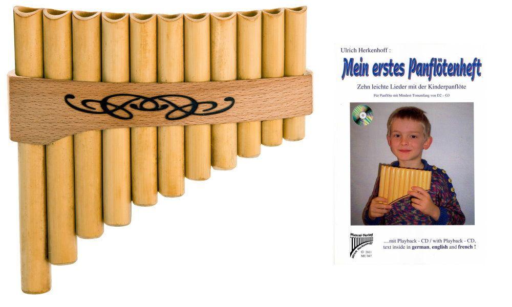 Kinder PanflötenSet mit Panflöte und Lernbuch incl. Playback-CD ( 10  Lieder)