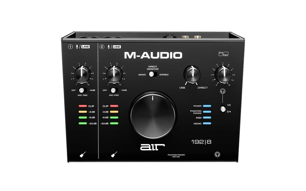M-Audio AIR 192 | 8  2-IN/4-OUT 24 Bit / 192 kHz USB Audiointerface