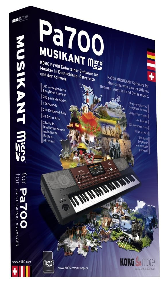 Korg PA-700 Musikant-Erweiterung incl. 200 PA700-Styles, 300 Songbook-Einträge