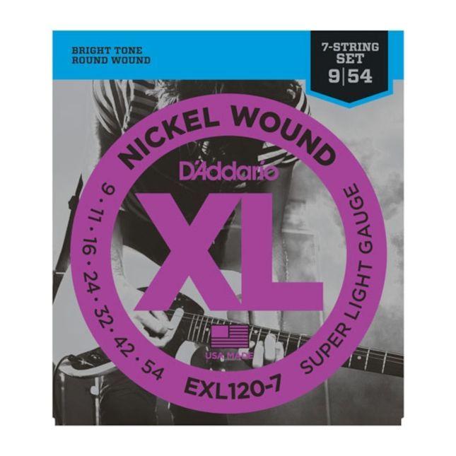 D'Addario EXL120-7 .09-.054 Satz für 7-Saiter