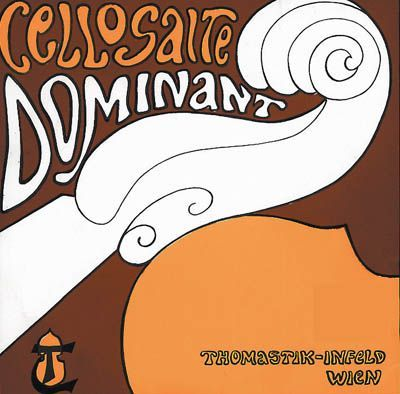Thomastik Dominant Cello 4/4 A-Saite mittel 142 Chrom umsponnen