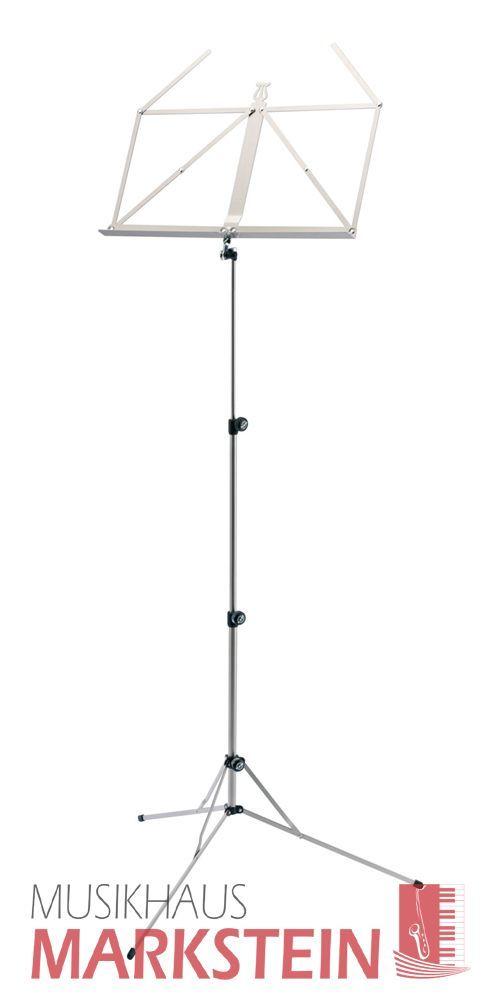 K&M 101 Notenpult neues Modell Notenständer 10100 nickelfarbig, Höhe 650-1225mm