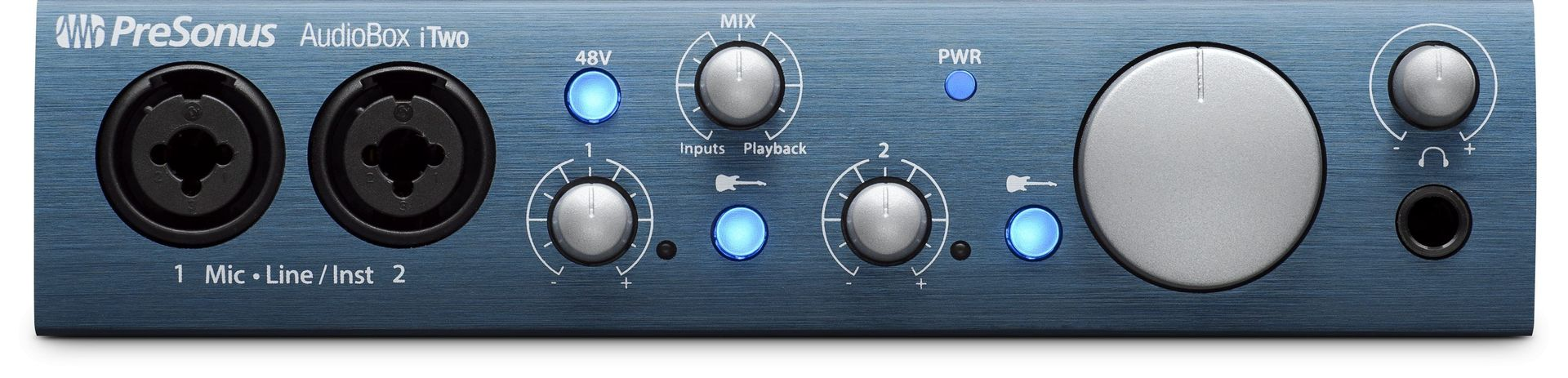 Presonus AudioBox iTwo USB 2.0 Audio Interface für iPad, Mac, PC mit Midi IN/OUT