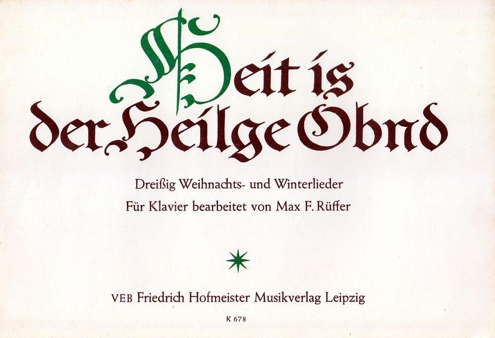Noten Heit is der Heilge Obnd Klavier Hofmeister K678 ISMN M-2034 Max F. Rüffer