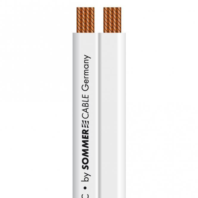 Sommer Cable Tribun 240 weiß Lautsprecherkabel flach 2 x 4,0 mm2