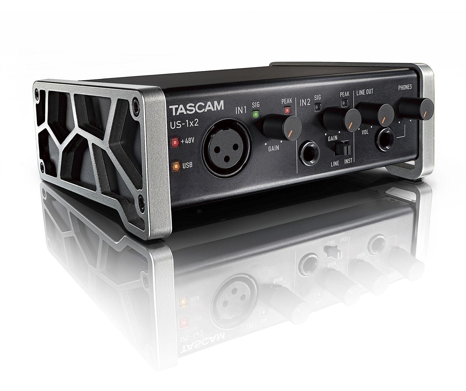 Tascam US-1x2 USB Audio Interface 2-Kanal mit 1 Mikrofon- und 1 Line-Eingang