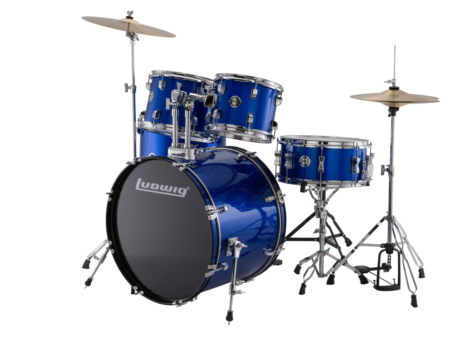 Ludwig Accent Drive 5teiliges Drumset Blue