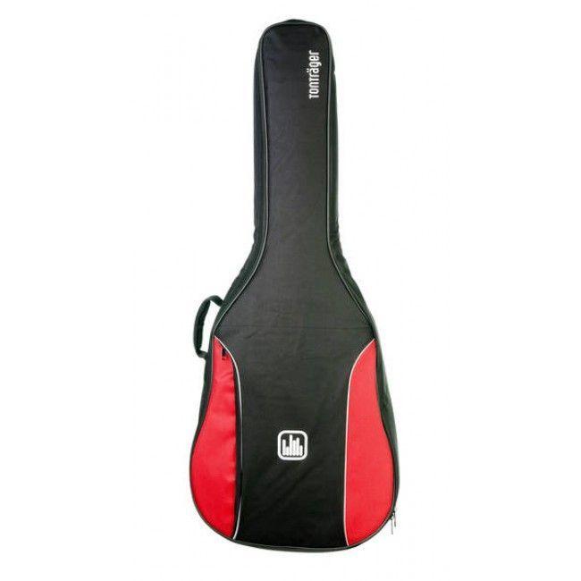 Tonträger TG10C/RB Gigbag für Konzertgitarre 4/4,Tasche mit 10mm Polster Rot