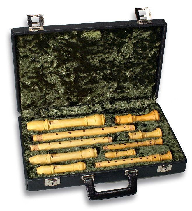 Etui / Koffer für Blockflöten - Satz, professionelle Ausführung