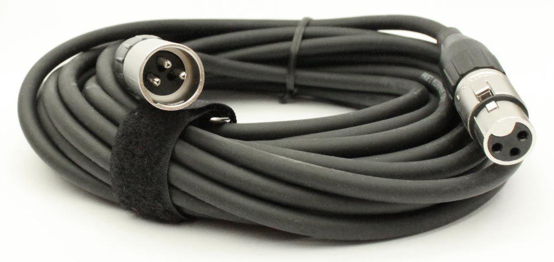 Mikrofonkabel Alcatel XLR male/female, 7,5 Meter, schwarz
