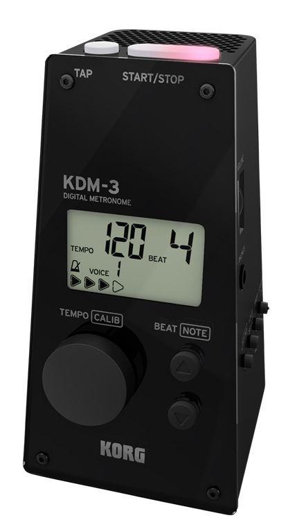 Korg KDM-3BK Digital-Metronom, großer Speaker, Volumenregler, 8 Metronomsounds