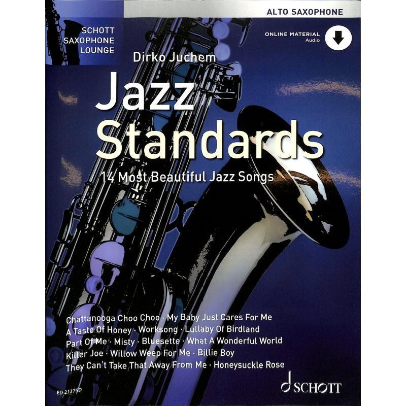 Noten JAZZ STANDARDS Juchem Dirko Altsaxophon incl. Audio Download ED 21275D
