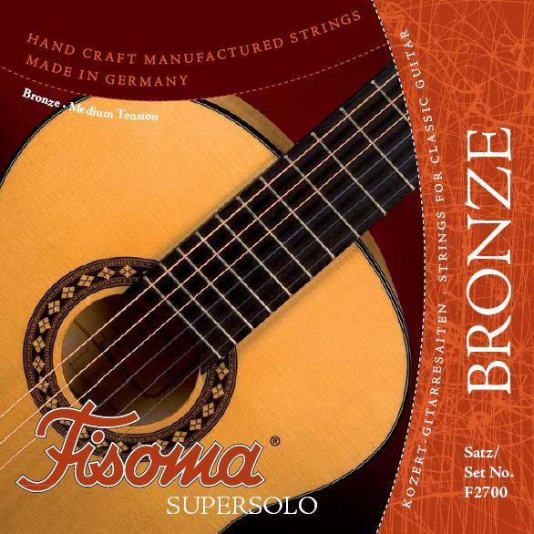 Fisoma F2700 Bronze Nylonsaiten Satz Konzertgitarre Saiten Supersolo Handarbeit