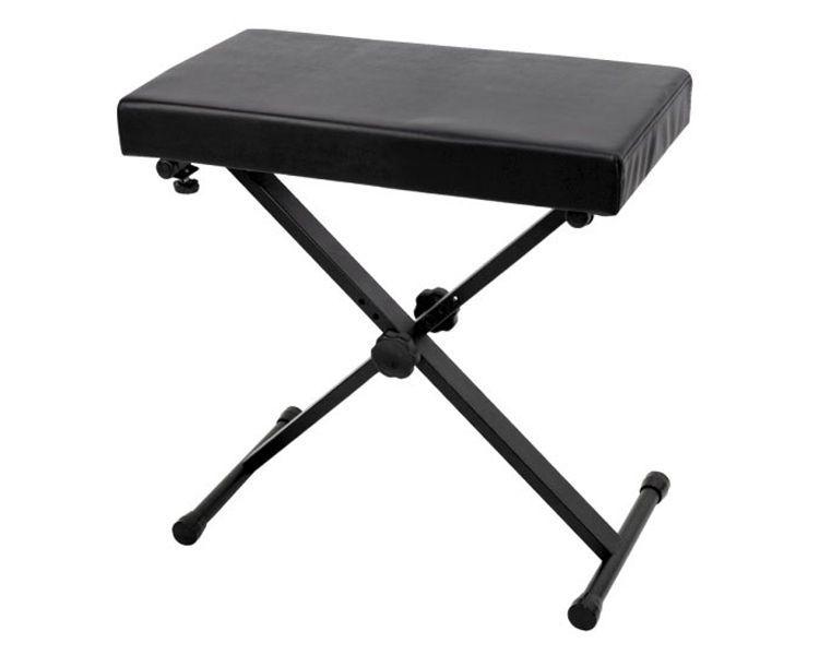 Keyboardbank Metall KB40, 56 - 66cm höhenverstellbar, 7cm Polster