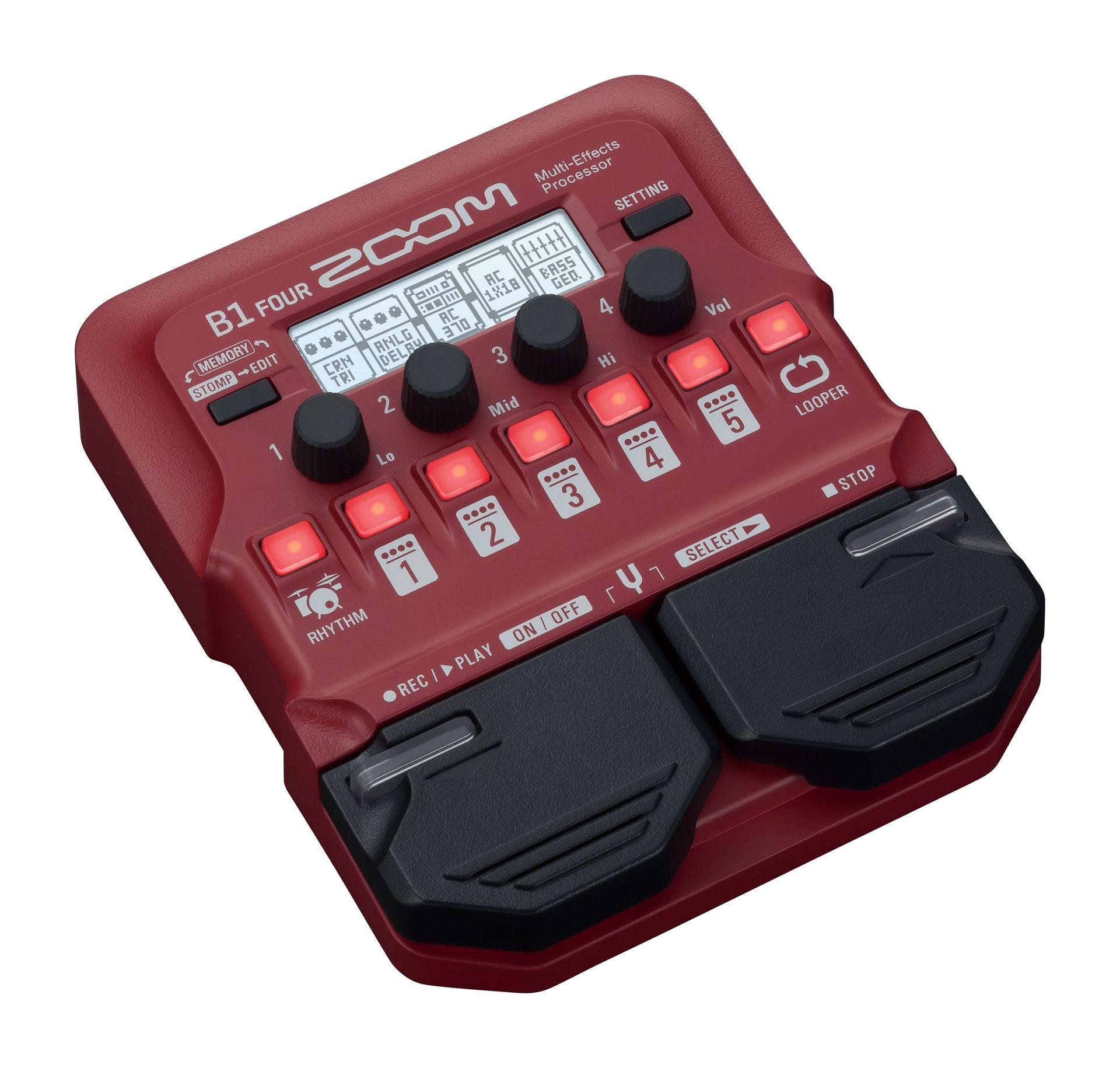 Zoom B1 FOUR Multieffektgerät für E-Bass