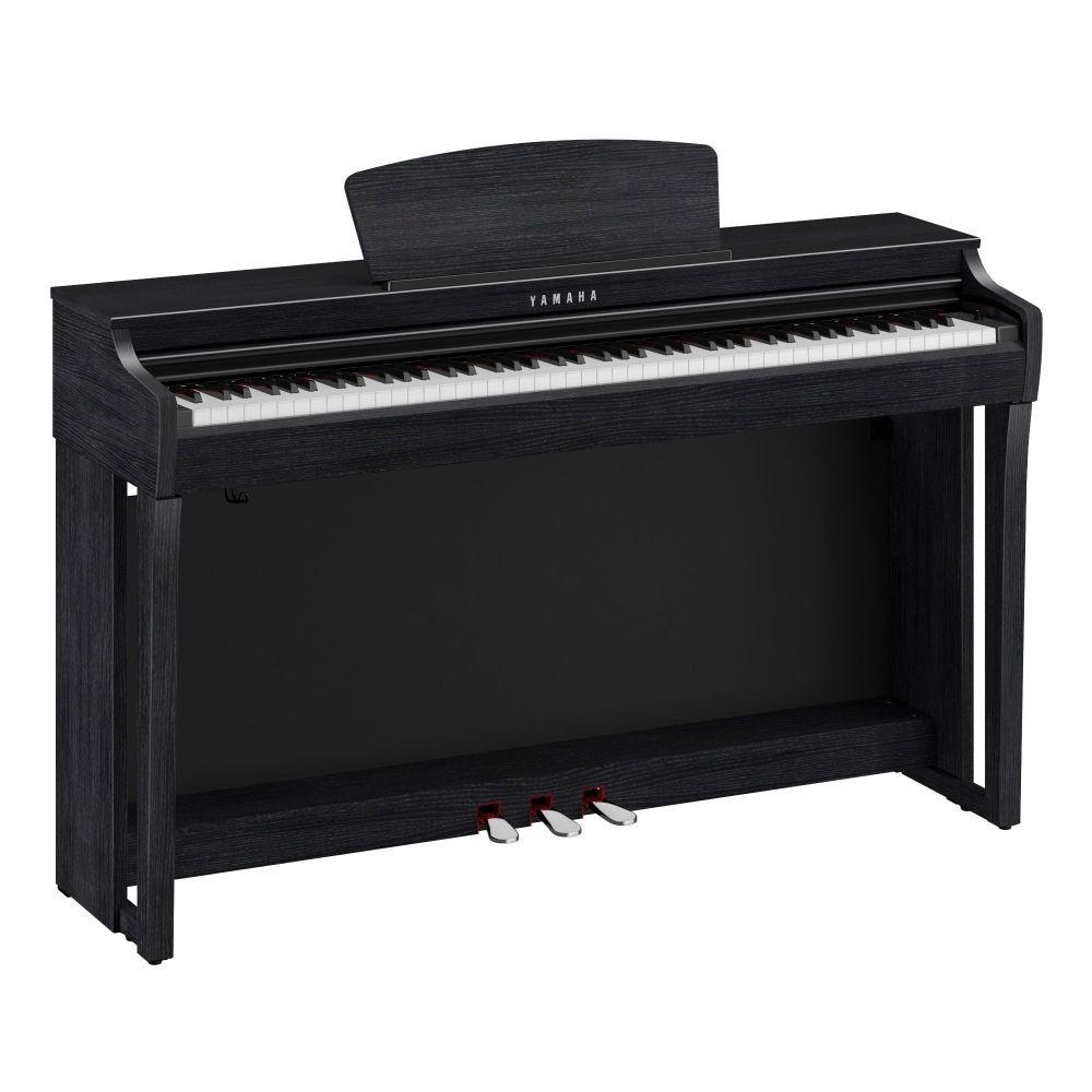Yamaha CLP-725B Digitalpiano schwarz matt, E-Piano Yamaha mit GH3X-Tastatur