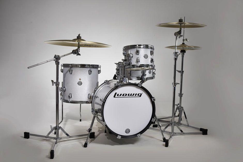 Ludwig Breakbeats Questlove Set White Sparkle